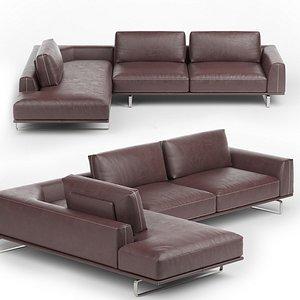 Tempo Corner Sofa by Natuzzi 3D