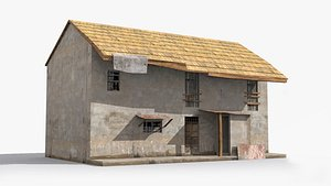 slum shanty hut 3D model