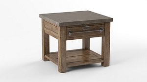 3D model EARLY 20TH C. ZINC-TOP MERCANTILE SIDE TABLE