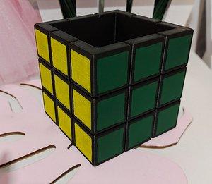 3D model flowerpot rubik s cube