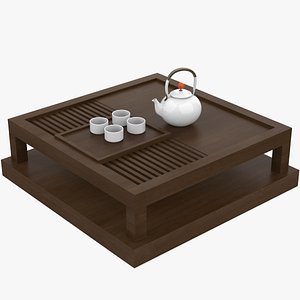 Asian Coffee Table 3D model