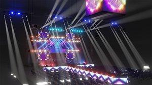concert scene eevee 3D