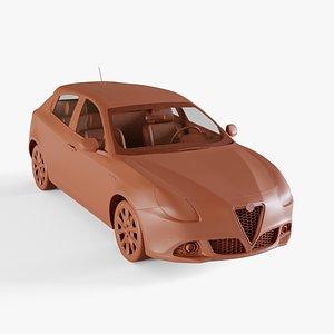 alfa romeo giulietta 3D model