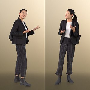 3D woman young business model