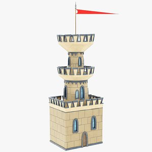 stylized castle watch 3D model