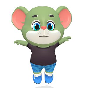 3D mouse rat rodent character games model