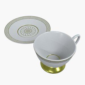cup tea saucer 3D model