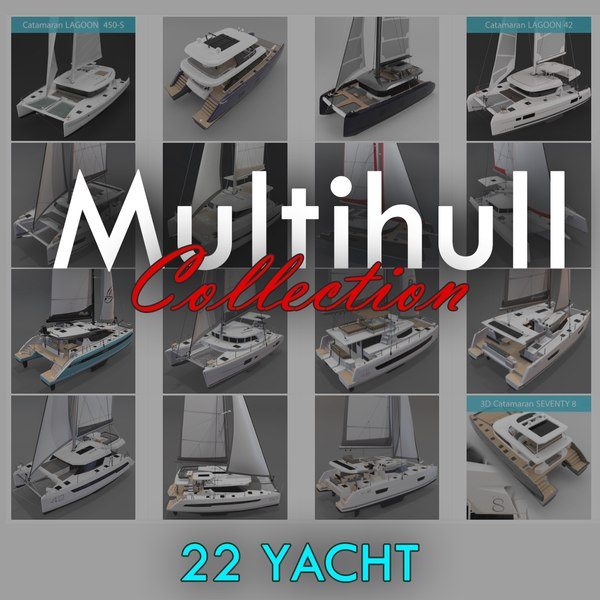 Multihull Collection 22 Yacht 3D model