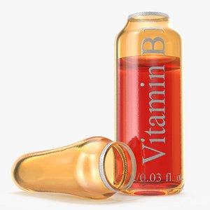 vitamin b1 1ml amber 3D model