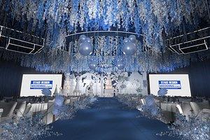 3D luxury wedding stage