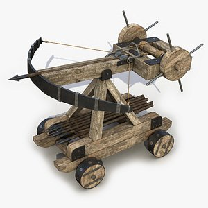 3D Medieval Ballista 2 3D Model model
