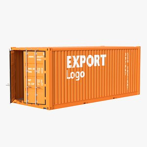 3D shipping standard container model