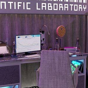 Laboratory Modern Night Pro 3D model