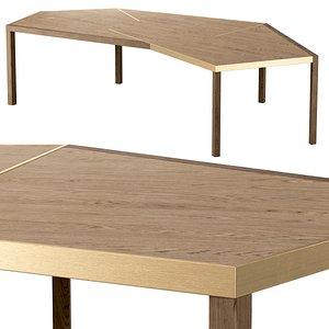 Dante dining table 3D model