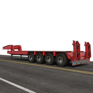 trailer semitrailer 3D model