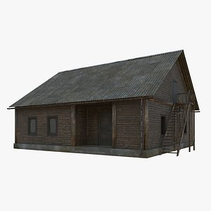 old wooden house 3D