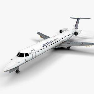 AMERICAN EXPRESS EMBRAER ERJ 145 L1348 3D model