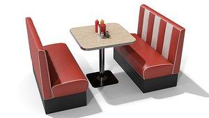 American Diner Furniture 3D