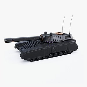 Automated Superheavy Tank 3D model