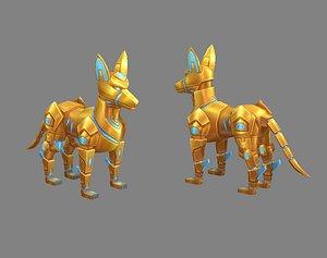 3D dog wolf robot