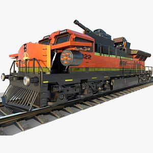train armoured 3D model