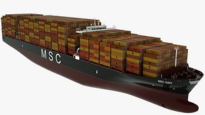 3D Container Ship MSC Igny model