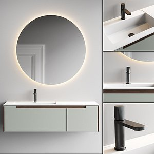 3D Antonio Lupi Design Orma Vanity Unit Set 2 model