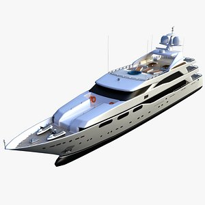 3D yacht boat ship model