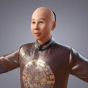 clothing qing dynasty 3D