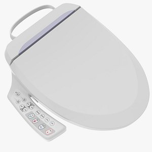 Round Smart Bidet Toilet Seat model