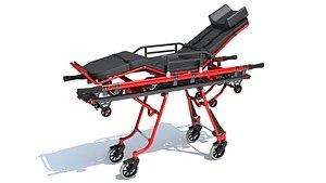stretcher ambulance 3D model