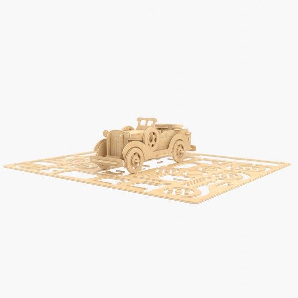 3D car laser cut model