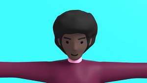 3D woman character motion