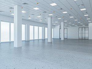 3D Loft Office interior 6