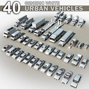 3D 40 Real-time GENERIC vehicles model