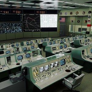 mission control apollo center 3D model