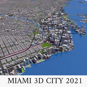 3D 2021 buildings city model