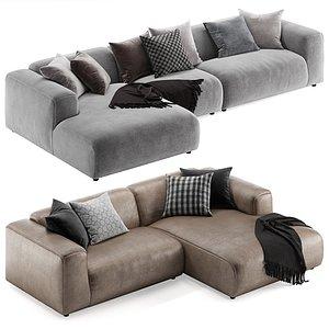 Rolf benz Freistil 187 L sofa 3D model