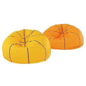 basketball beanbag 3D model