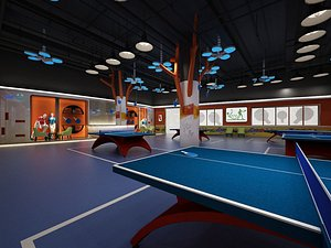 3D Table tennis room table tennis hall table tennis table gym training base