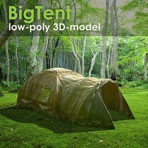 3D Big tent low-poly 3d model