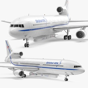 3D Lockheed L1011 Stargazer with Pegasus XL Rocket Rigged