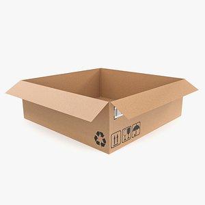 3D Cardboard box 22 model