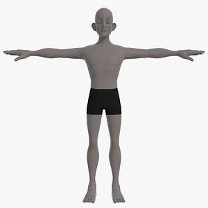 base mesh man character 3D model