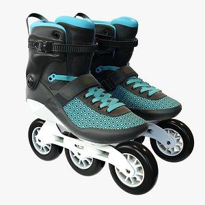 inline roller skates 3D model