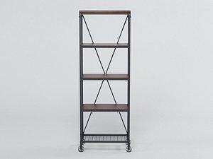3D shelves furnishing model