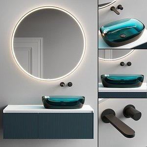 3D Antonio Lupi Design Binario 03 Vanity Unit Set 5 model