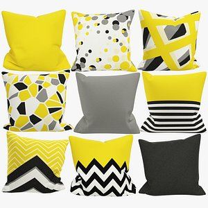 Sofa Pillows Collection V7 model