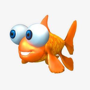 3D fish goldfish cute