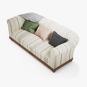 Retro vintage mid century sofa 3D model